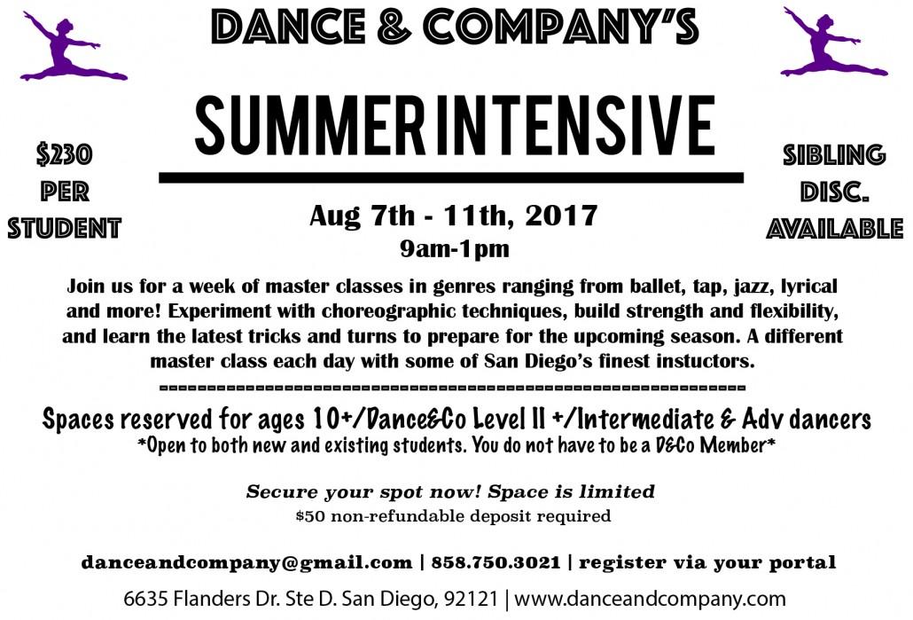 Summer Intensive 2017